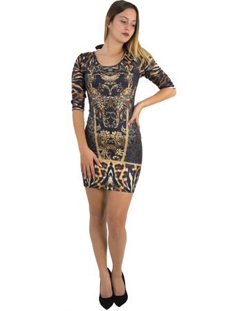 Γυναικείο καφέ λεοπάρ εφαρμοστό κοντό φόρεμα 8290145F 6868c0c5da2