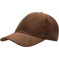 77c72ba5232d Atlantis Cordy κοτλέ καπέλο Εξάφυλλο καπέλο τζόκεϋ 100% Βαμβάκι - BROWN
