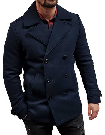 Jack Jones - 12139551 - JOrhidson Peacoat - Total Eclipse - Παλτό 1eb39b1f053