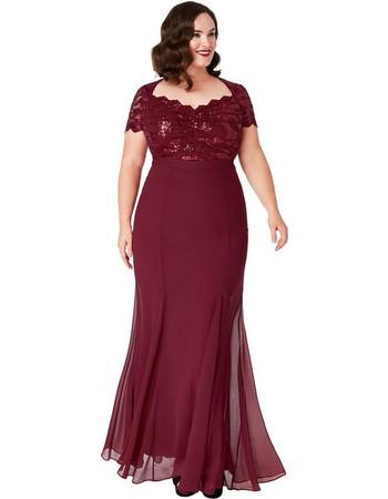 plus size επίσημο glam φόρεμα mermaid Ines σε μπορντώ 571dbb1b02b