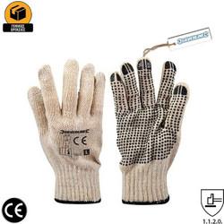 Γάντια Εργασίας Πλεκτά με PVC Κουκίδες Εσωτερικά Silverline 196545 d5e7047f83a