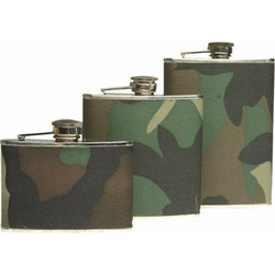 Mil-Tec Flask 220ml - Woodland
