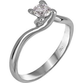 Μονόπετρο λευκόχρυσο δαχτυλίδι Κ18 με διαμάντι μπριγιάν 026343 026343 Χρυσός  18 Καράτια c7f48d3d917