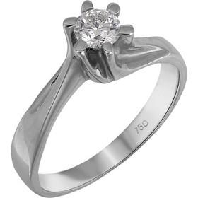 Λευκόχρυσο μονόπετρο Κ18 διαμάντι μπριγιάν 024404 024404 Χρυσός 18 Καράτια 273daffc8ce