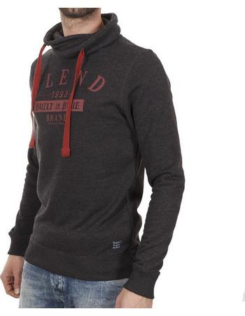 Ανδρικό Μπλούζα Φούτερ με Κουκούλα Hoodie BLEND 20701003 Αθρακί c8bfb16946a