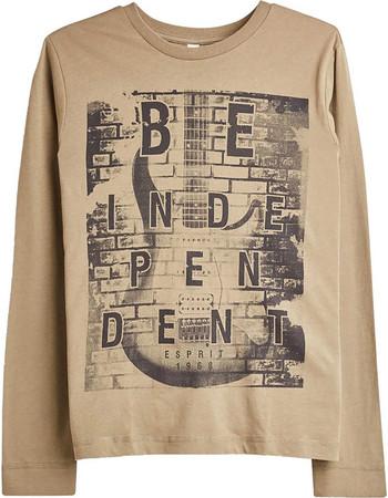 Esprit παιδικό μακρυμάνικο μπλουζάκι με print κιθάρα - RM1001607 - Μπεζ a801bae4783
