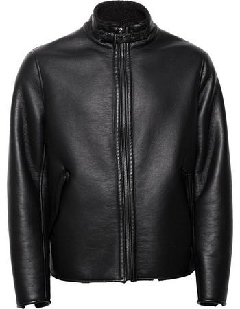 Esprit ανδρικό faux leather μπουφάν - 118EE2G013 - Μαύρο 78cfaffbc16