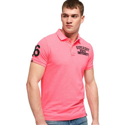 a293906700b Superdry Classic Superstate Pique Polo Μπλούζα M11008ET - Ρόζ