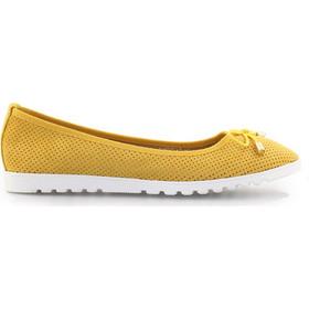 bfcd424e3e6a Γυναικείες μπαλαρίνες με περφορέ μοτίβο Κίτρινο