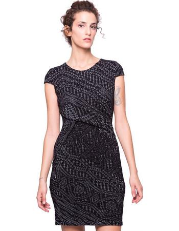 Γυναικείο φόρεμα Desigual - 17WWVK58 - Μαύρο bbe1820ccc0