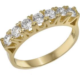 Σειρέ δαχτυλίδι Κ14 με λευκές πέτρες ζιργκόν 030472 030472 Χρυσός 14 Καράτια b328b9ecea9