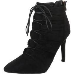 0525 LD Γυναικεία μποτάκια με κορδόνια - Μαύρο a9598dbf763