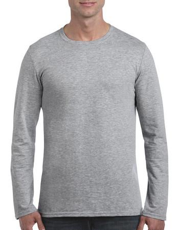 Gildan Mens Softstyle Long Sleeve Tee Gildan 64400 - Sport Grey 0af1d2d9efb