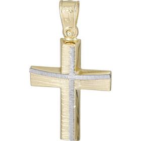 Σταυροί Βάπτισης - Αρραβώνα Αντρικός χρυσός σταυρός Κ14 με σχέδιο 026200  026200 Ανδρικό Χρυσός 14 Καράτια 673d066c5f4