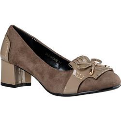 Καρέ Γόβες με Φιόγκο Envie Shoes Κωδ. E64-06323-36 Χρώμα Πούρο 2a36b36daba
