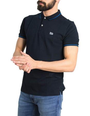 Ανδρική μαύρη Polo κοντομάνικη μπλούζα Lee L61ARL01 aa37b5ec4e4