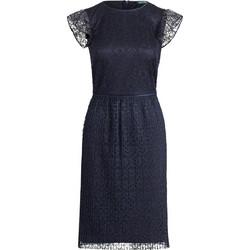fae3e1ff5949 Lauren Ralph Lauren γυναικείo φόρεμα δαντέλα Lace Cap-Sleeve - 250726376002  - Μπλε Σκούρο