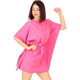 2217cd847974 Φούξια Mini Φόρεμα με Ζωνάκι Φούξια Silia D