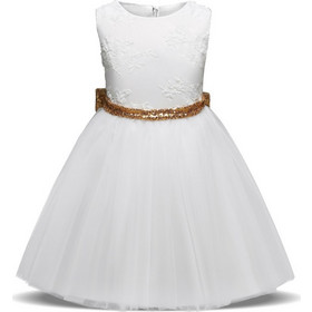 366d68fd6d59 Παιδικό Φορεματάκι Για Πάρτυ Λευκό - Meng Baby