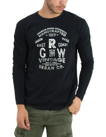 μπλουζες ανδρικες μακρυμανικες μαυρες - Ανδρικές Μπλούζες Φούτερ ... aa74f221a07