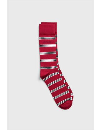 5459448ed30c Gant ανδρικές ριγέ κάλτσες με λογότυπο - 9960044 - Κόκκινο
