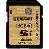 Kingston 16GB SDHC UHS-I Ultimate Class 10