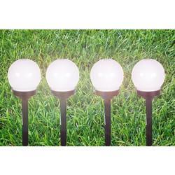 Ηλιακά φανάρια κήπου led μπάλα με λευκό (ψυχρό) φως (Σετ 4 τεμαχίων) 00d4f754ba2