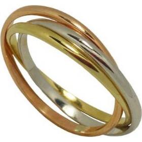 Τρίχρωμο τρίβερο δαχτυλίδι από κίτρινο 2cbf2f039a8