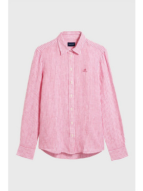 826423aeb9 ...γυναικείο ριγέ πουκάμισο λινό - 4321020 - Κοραλί