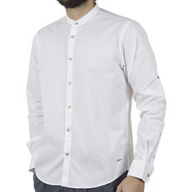 7026c7245671 Ανδρικό Μάο Μακρυμάνικο Πουκάμισο Comfort Fit DOUBLE DOUBLE GS-483 Λευκό