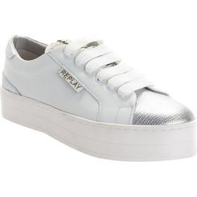 99aece4920c Replay Γυναικείο Δερμάτινο Sneaker RZ860003L ROCKET 0081-WHITE SILVER