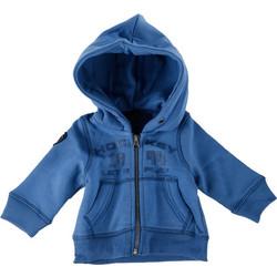 b459517bacc Παιδική ζακέτα με φερμουάρ και κουκούλα σε Μπλε Χρώμα με Λογότυπο Στο Στήθος  και Φερμουάρ,