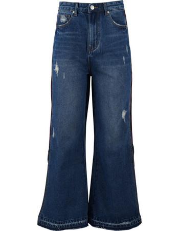 Παντελόνα γυναικεία jean με ρίγα   άνοιγμα.Advanced style.New arrival. ΤΖΗΝ fca42b24696