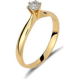 Δαχτυλίδι illusion από χρυσό 18 καρατίων με 9 διαμάντια που δημιουργούν την  εντύπωση ενός μεγαλύτερου διαμαντιού 83d07920689