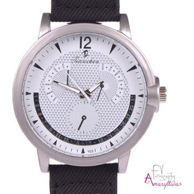 Unisex ρολόι χειρός με μαύρο λουρί και διακοσμητικά τρουκς by Amaryllida s  Art collection - 22334 bbd408a431e
