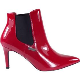 Pepe Jeans WELLS CHELSEA Γυναικεία Μποτάκια PLS50317-244 Κόκκινο Λουστρίνι  45300 2dd32457e61