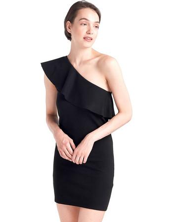 638e1b42d2b8 Mini φόρεμα με έναν ώμο - Μαύρο