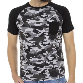 7595c621267d Ανδρικό Κοντομάνικη Μπλούζα T-Shirt Cotton4all 18-555 παραλλαγή Γκρι