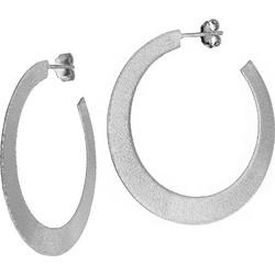 Χειροποίητα ασημένια 925 σκουλαρίκια κρίκοι με επιπλατίνωμα SK-2242L1 3b15af25767