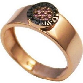 Δαχτυλίδι ροζ χρυσό Κ14 με μαύρη πλατίνα R0340 9abf9d6b3ac