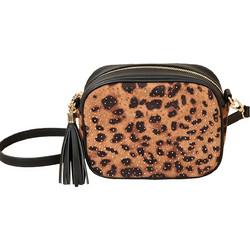 f7bc39b8c1 Pia Rossini γυναικεία τσάντα με λεοπάρ σχέδιο - LEO00209 - Μαύρο