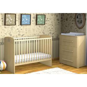 914fc947cf1 Σετ κρεβάτι μωρού FAKTUM LEXI 60x120 φυσικό και συρταριέρα με 3 συρτάρια