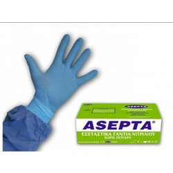 Asepta Examination Gloves Powderfree Nitrile Εξεταστικά Γάντια Νιτριλίου Χωρίς Πούδρα Size Extra-Large κουτί με 100 τεμάχια