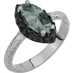 Ασημένιο δαχτυλίδι ροζέτα νυχάκι 925 με γκρί πέτρα SWAROVSKI AD-E1214BGRIL1 d70225aac71