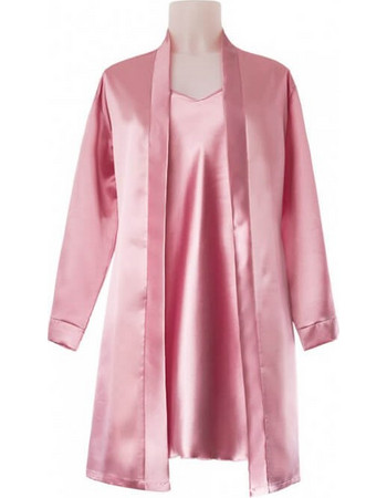 Σατέν ρόμπα κιμονό ροζ ANDRA LINGERIE made in Italy ANDRA LINGERIE 5b9649c39f6