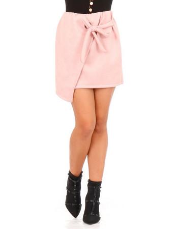 Ρόζ Βελούδινη Mini Φούστα Ρόζ Silia D af7f0640b04