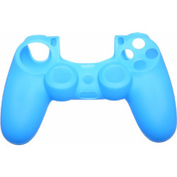 PRO SOFT SILICONE PROTECTIVE DUALSHOCK 4 COVER RIBBED GRIP LIGHT BLUE ASSECURE (PS4)