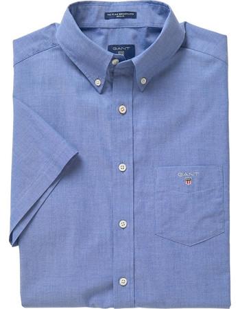 Gant ανδρικό πουκάμισο κοντομάνικο Broadcloth - 3046401 - Μπλε 47e243272c6