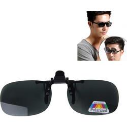 4db0b97c07 Polarized Clip-on Flip Up Plastic Clip Sunglasses Lenses Glasses  Unbreakable Driving Fishing Outdoor Sport