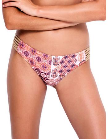 Μαγιό Blu4u Ethnic Gold Bikini Κανονικό - Χωρίς Ραφές - Μεταλιζέ Leather  Λωρίδες - Καλοκαίρι 2018 d8239eedb14